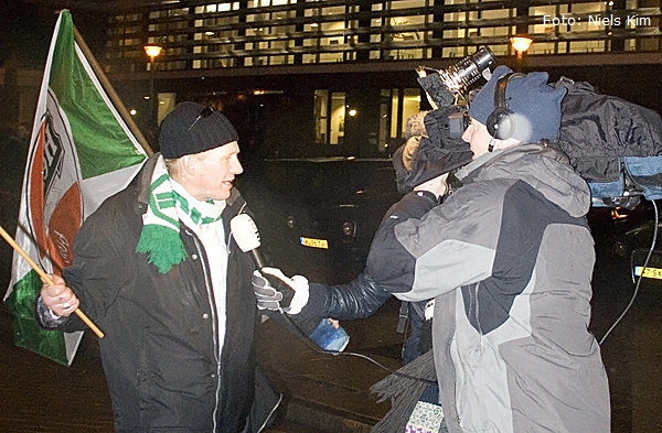 Protest FC Groningen-supporters